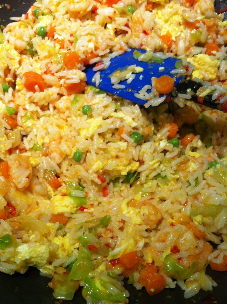 , shrimp fried rice, healthy meal, healthy family, easy fried rice ...