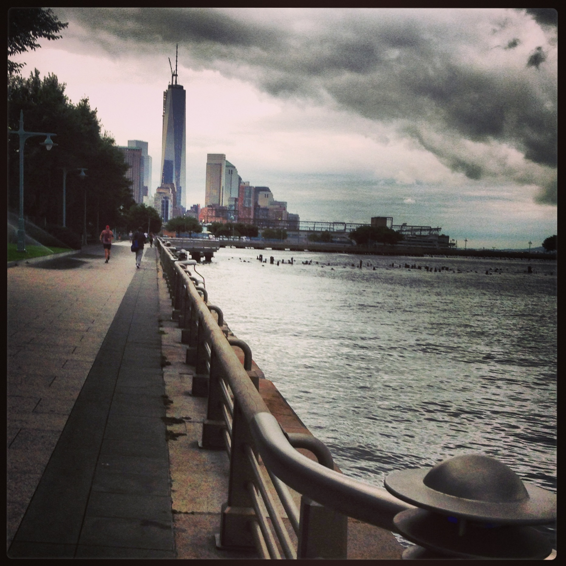 running in NYC, running along the Hudson River, New York City, Liberty Tower, running while traveling, morning runs, fun runs, Hudson River, travel, run
