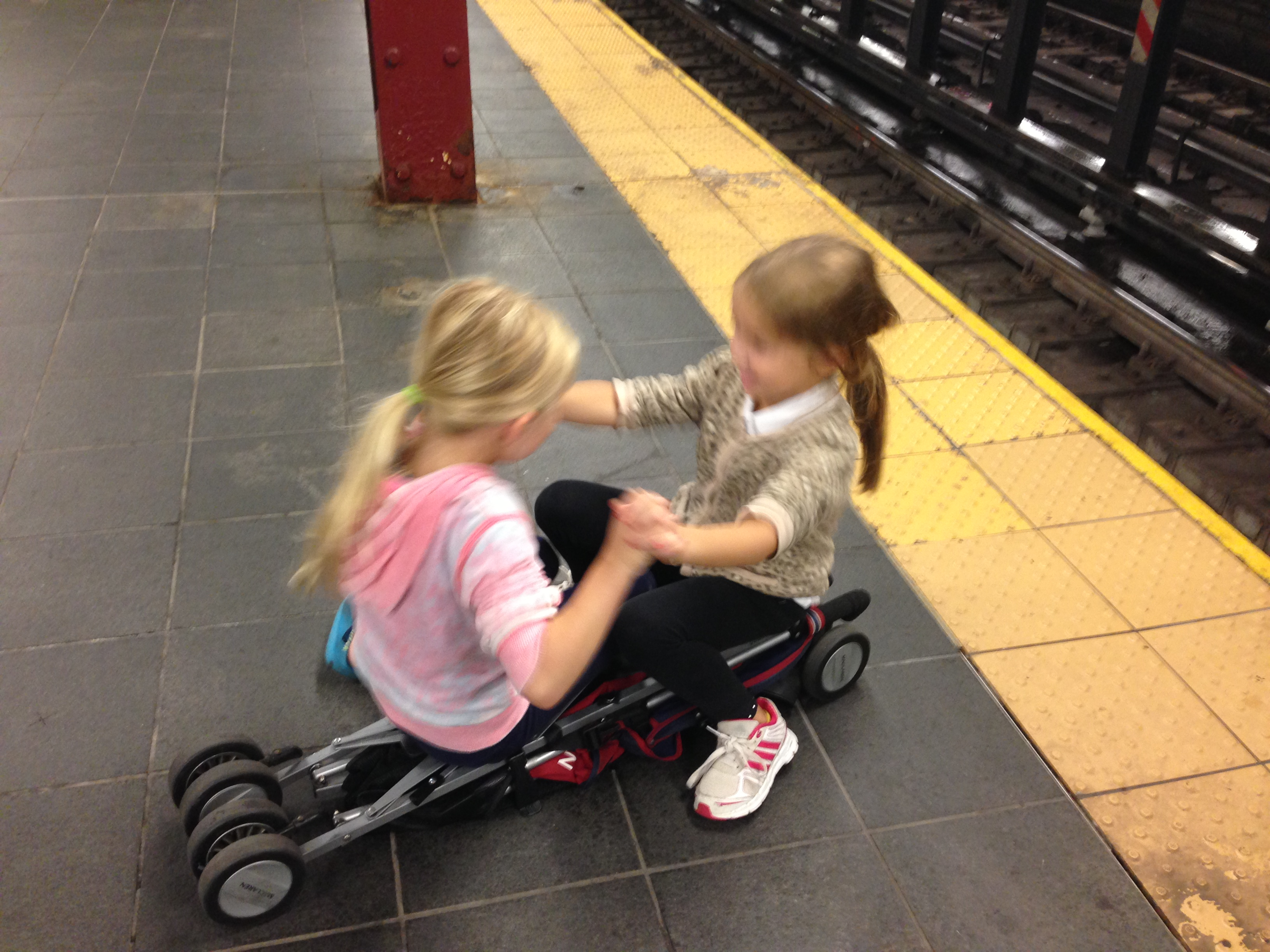NYC subway, kids on the subway, travel, New York City travel