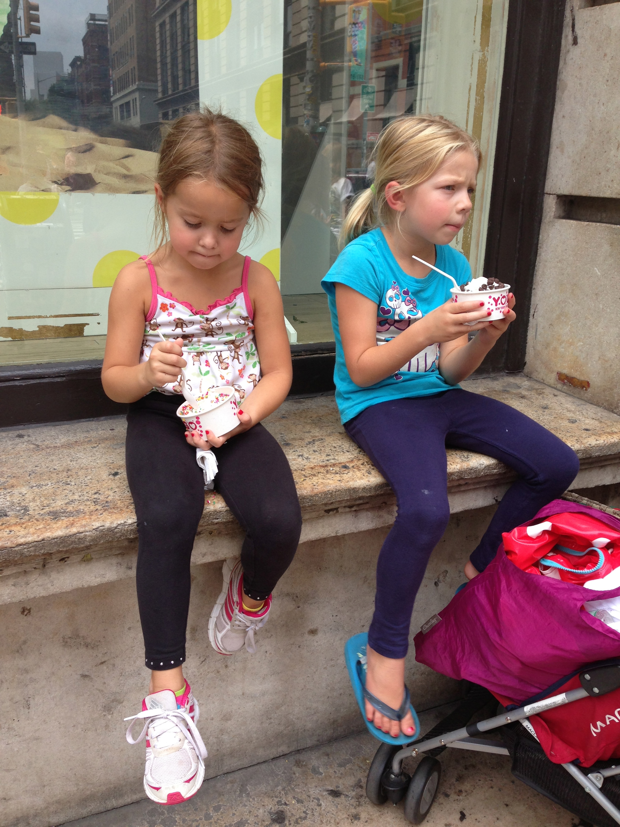 Soho, traveling with kids, New York City, ice cream break, summer in New York City