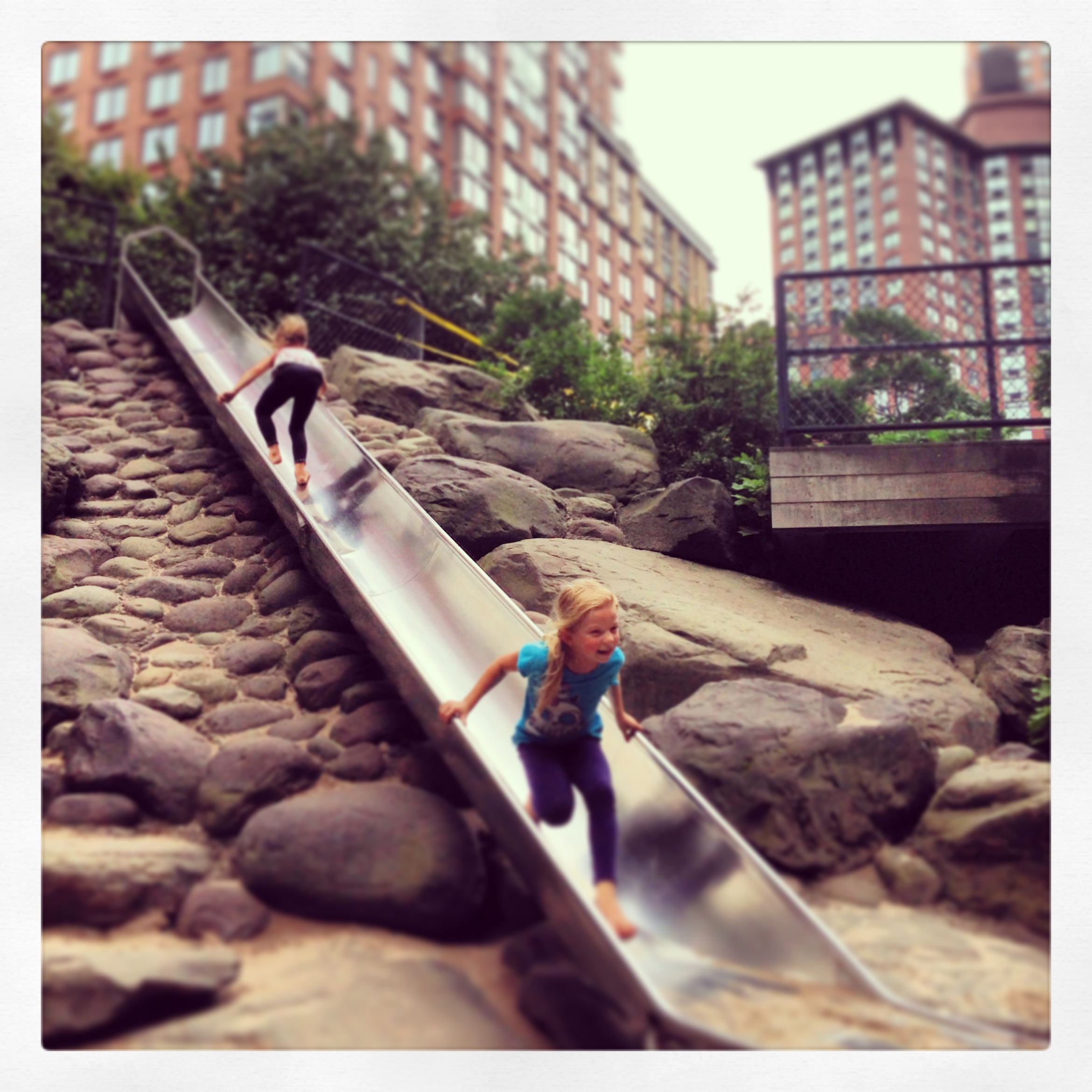 NYC travel, NYC with kids, New York City playground, Battery Park slide