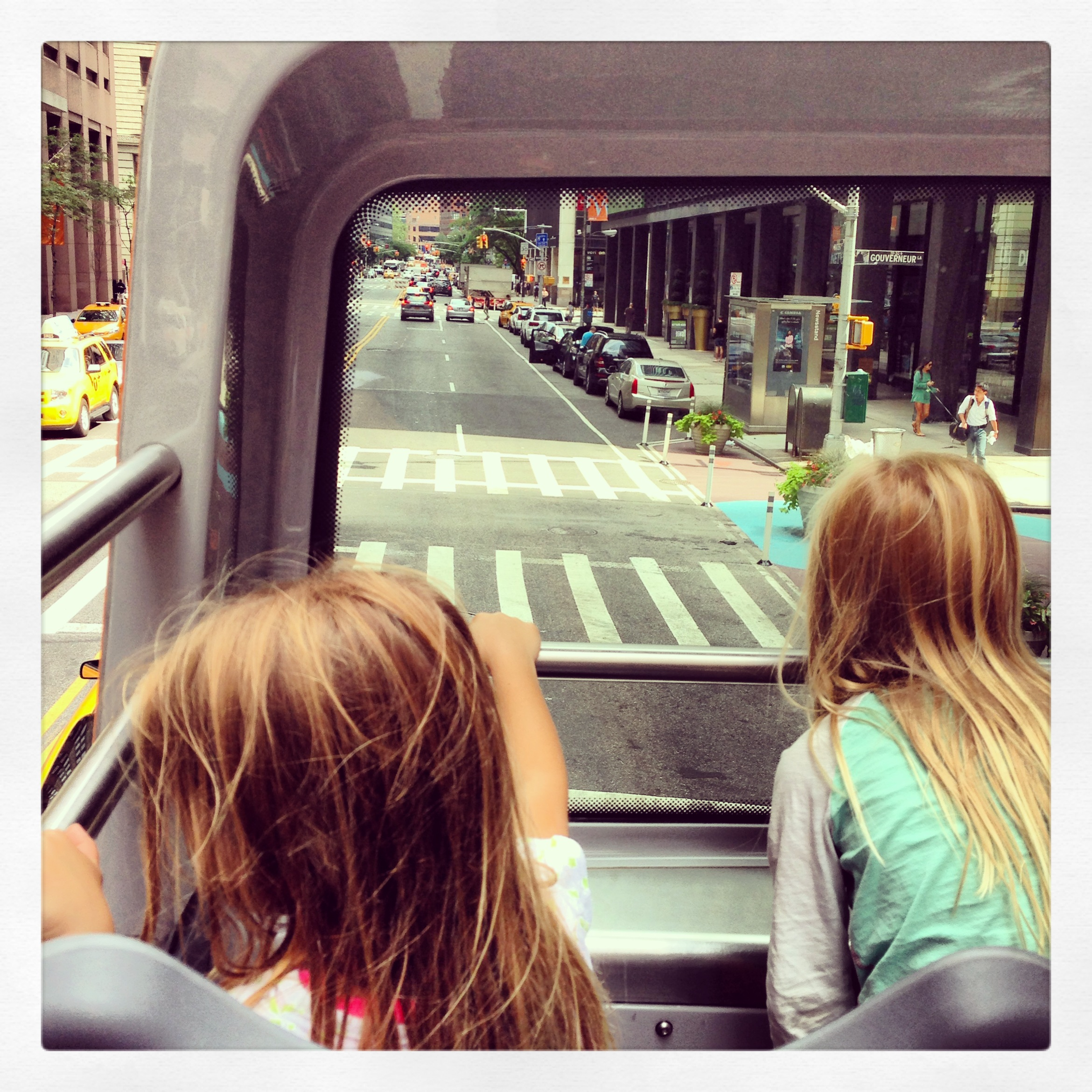 New York travel, Double Decker bus tour, traveling with kids in NYC, NYC