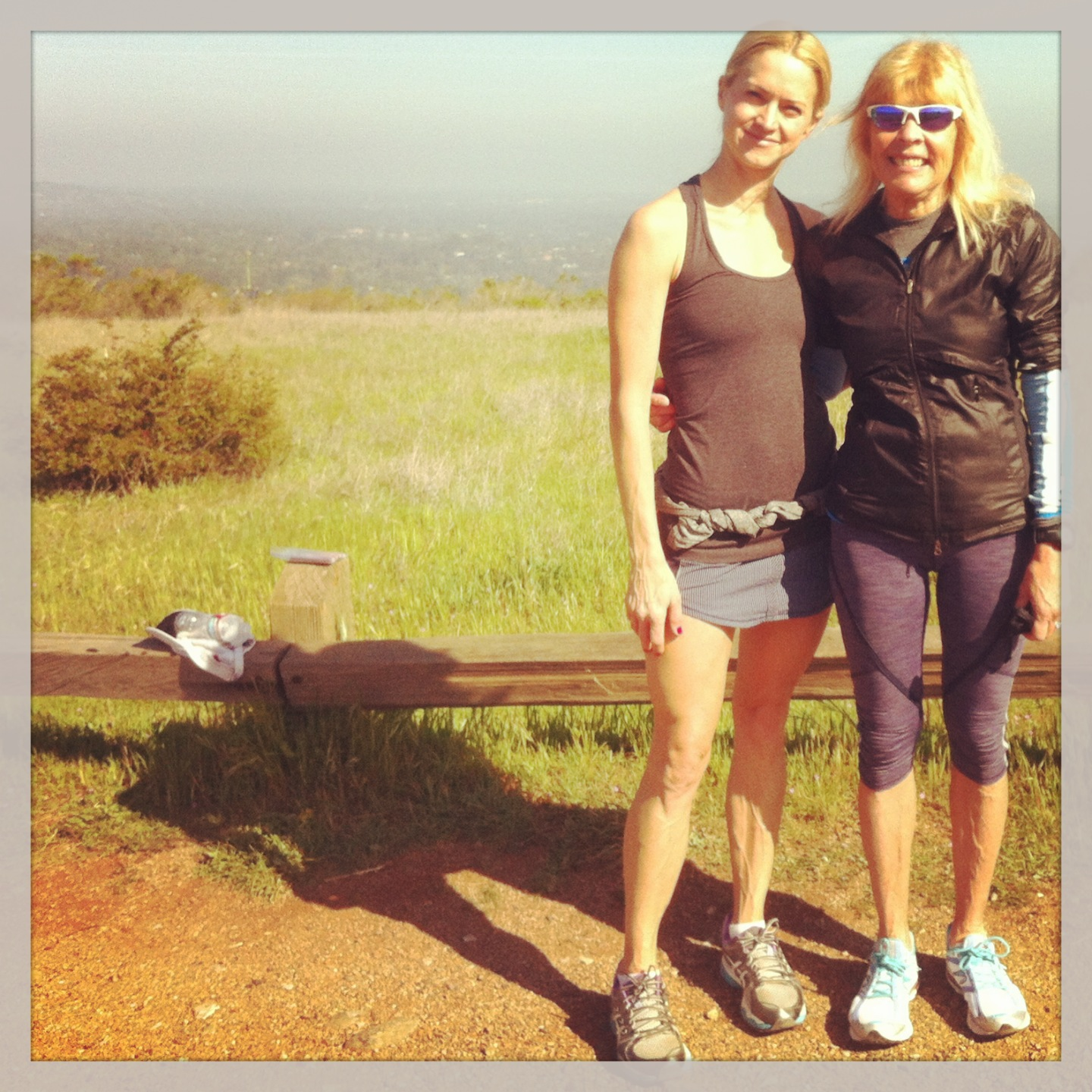run, running with mom, family run, trail running
