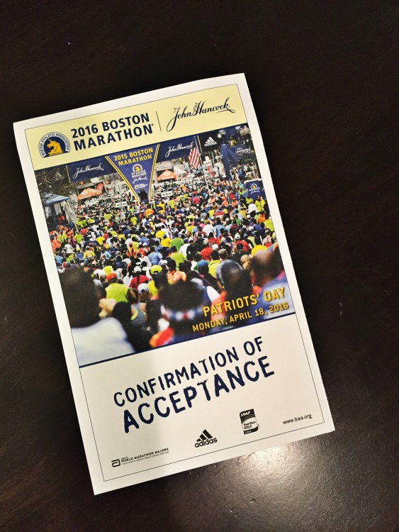 Boston Marathon Acceptance, Run, marathon training
