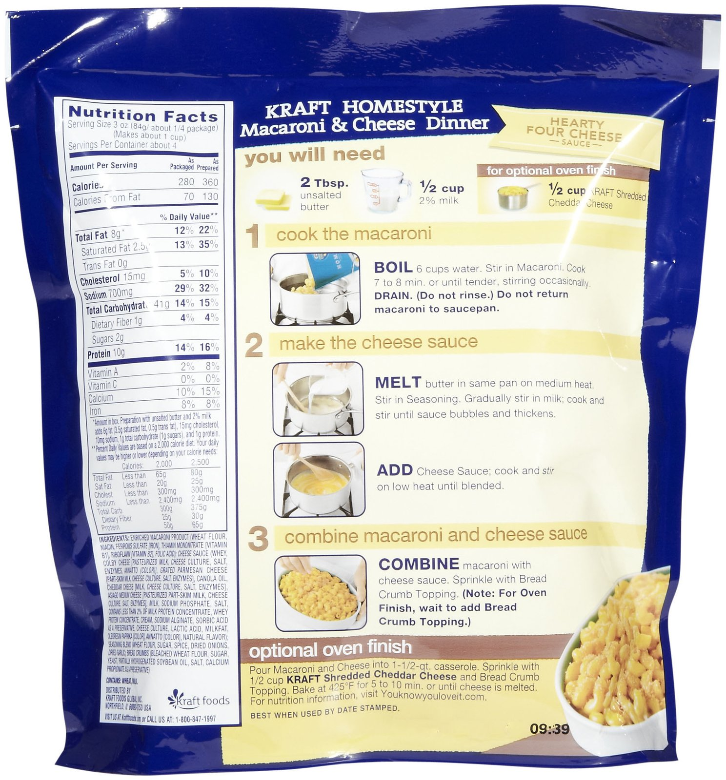 an introduction to kraft macaroni and cheese Making your own macaroni and cheese would be the best idea, and would let you buy higher quality ingredients than you would find in the ready-made kits from kraft or velveeta you'll want to select a good brand of pasta, and then make sure that the cheese you get is very mild, avoiding the sharp cheddar and heavily processed foods like.
